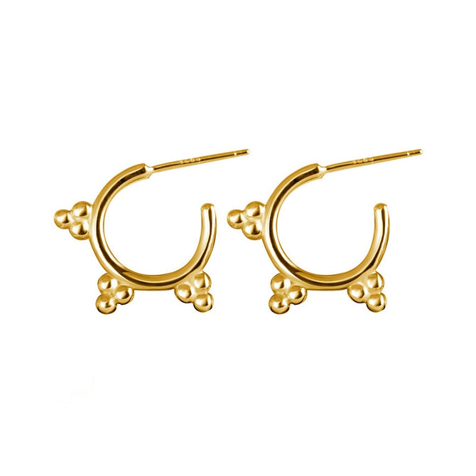 DROP EARRING STUDS - GOLD