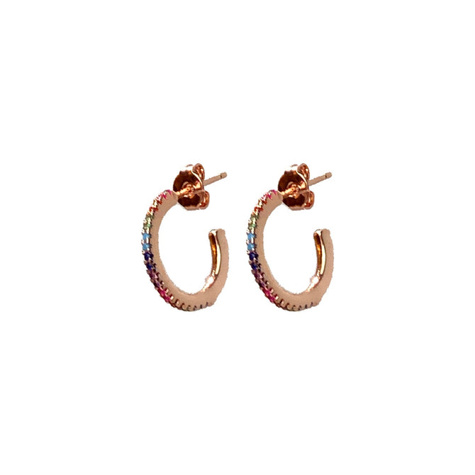 RAINBOW EARRINGS - ROSE GOLD