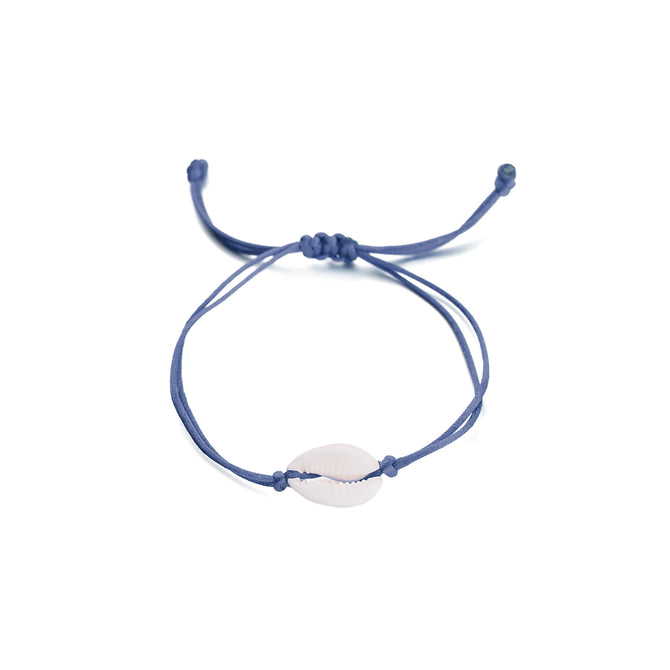 SHELL BRACELET - DARK BLUE