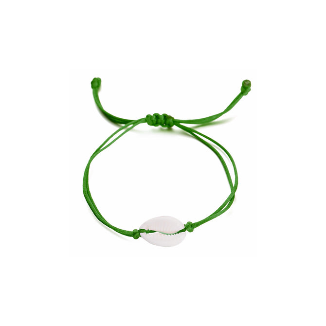 SHELL BRACELET - DARK GREEN