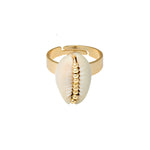 EXCLUSIVE SHELL RING - GOLD