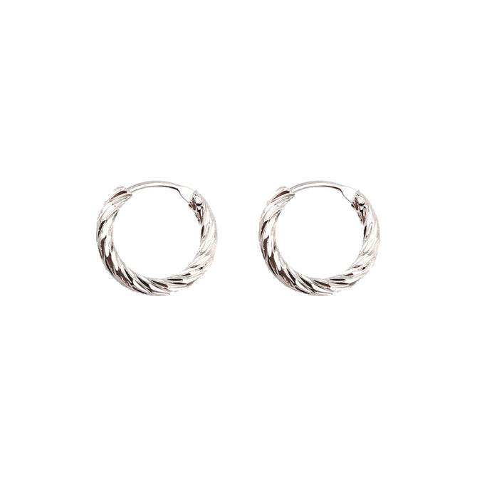 SMALL TWISTED HOOPS