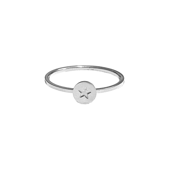 STAR RING ENGRAVED - SILVER
