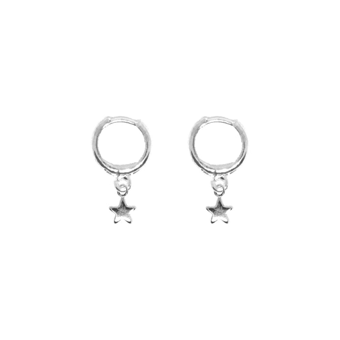 TINY STAR EARRINGS - SILVER