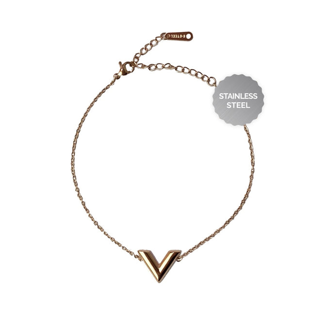 BASIC V-BRACELET - ROSE GOLD
