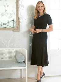 Knit Illusion Trim A-line Dress