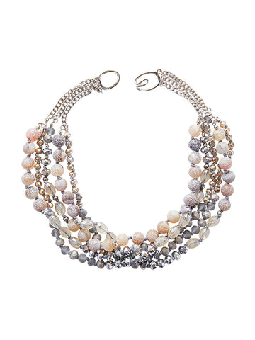 Multistrand Frosted Bead Necklace