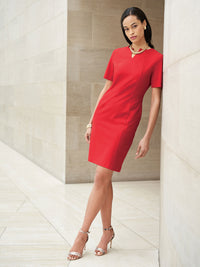 Seam Detail Ponte Sheath Dress