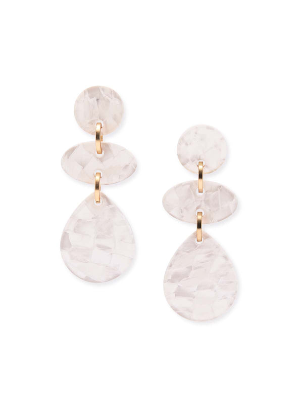 Mother-of-Pearl Drop Earrings – Misook