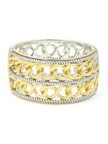 Two-Tone Stacked Chain Bracelet