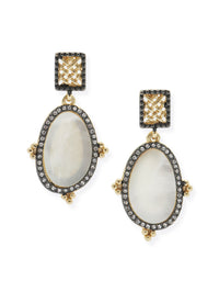Antique Mother-of-Pearl Drop Pierced Earrings