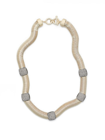 Cubic Zirconia Accent Snake Chain Necklace