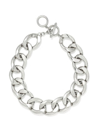 Chunky Silver Link Necklace