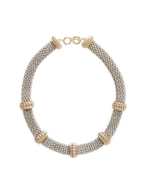 Gold and Silver Link Necklace | Nickle-Free Jewelry | Misook