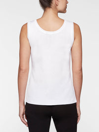 Double Scoop Neck Tank - Rear View