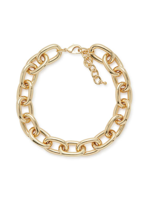 Dimensional Gold Link Necklace