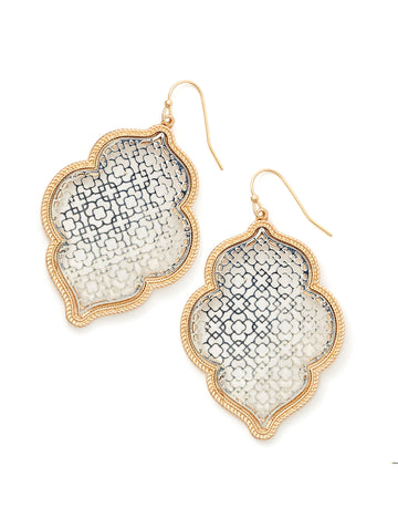 Filigree Moroccan Drop Earrings