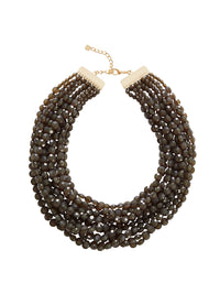 Multistrand Charcoal Bead Necklace | Hypoallergenic Jewelry | Misook