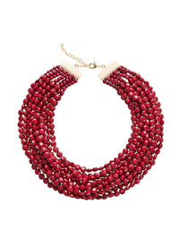 Multistrand Merlot Bead Necklace | Hypoallergenic Jewelry | Misook