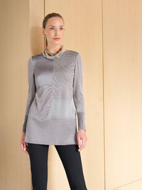 Charmeuse and Knit Tunic – Misook