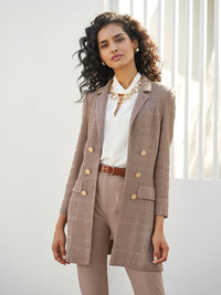 Tailored Signature Knit Jacket, Macchiato