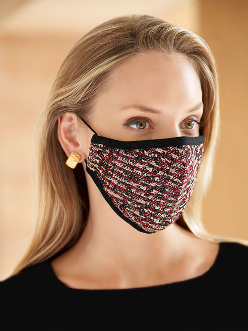 Jacquard Pattern Reusable Face Mask – Premium Detail – Misook