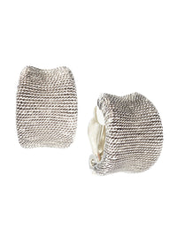 Textured Antique Silver Clip Earrings – Misook