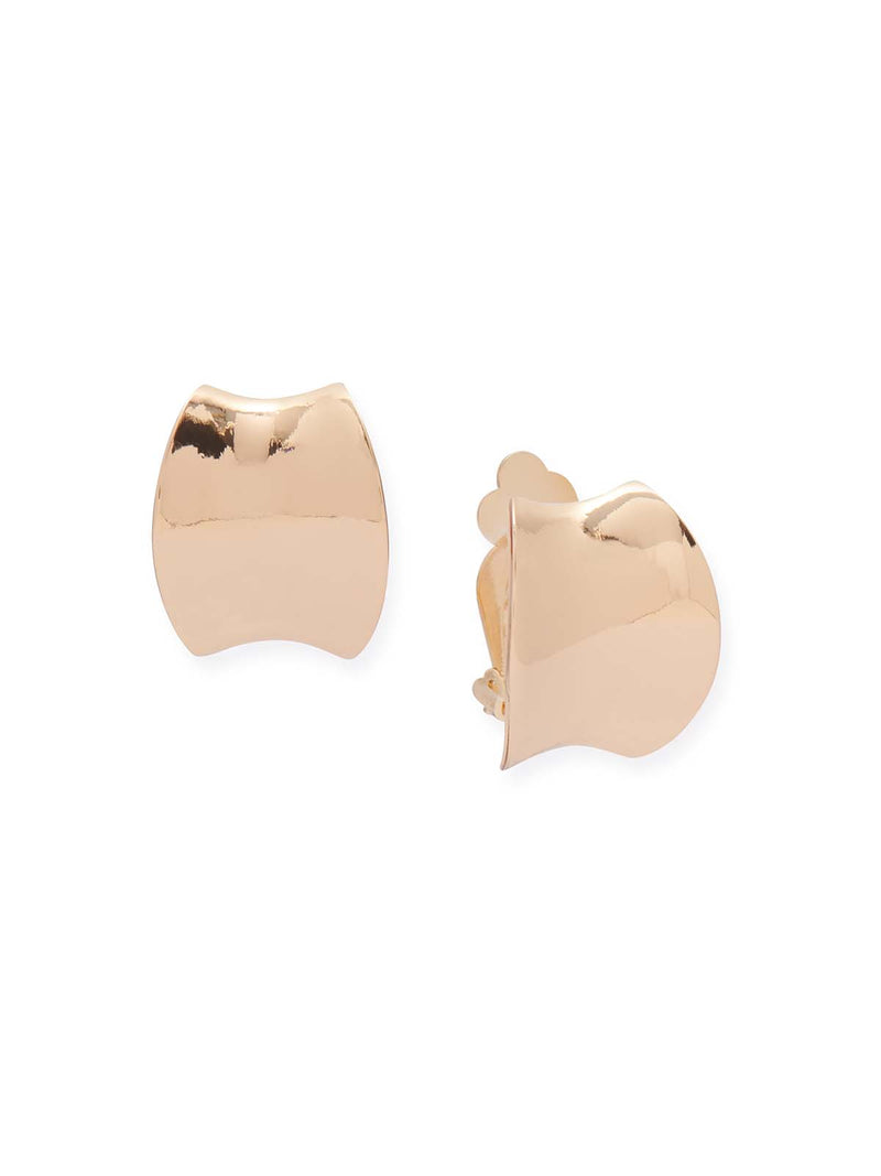 Gold Cuff Clip Earrings