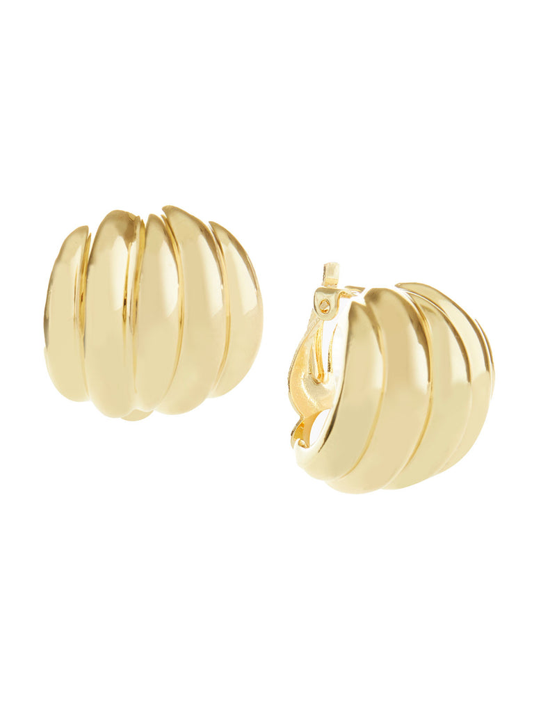Gold Tone Shrimp Clip-On Earrings | Nickle-Free Jewelry | Misook