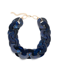 Blue Marble Statement Necklace