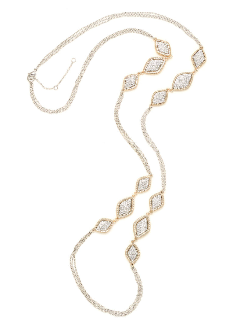 Pave Crystal Chain Necklace