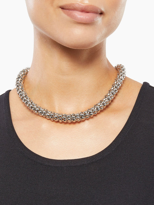 Silver Serpent Chain Necklace – Misook