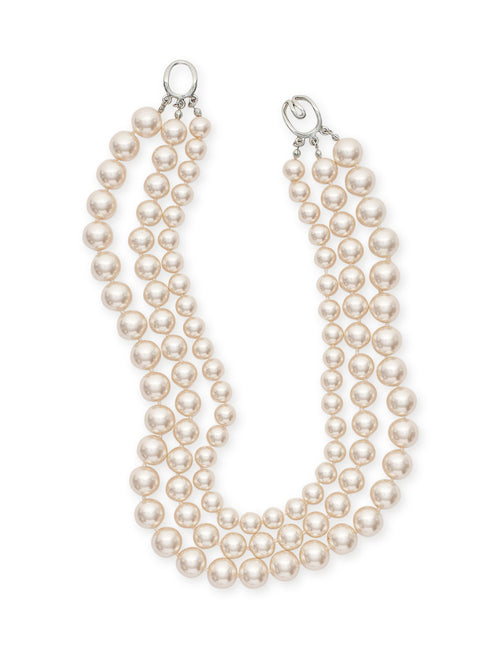 Three Tiered Pearl Necklace – Misook
