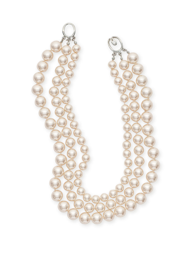 Three Tiered Pearl Necklace