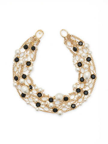 Glass and Pearl Statement Necklace