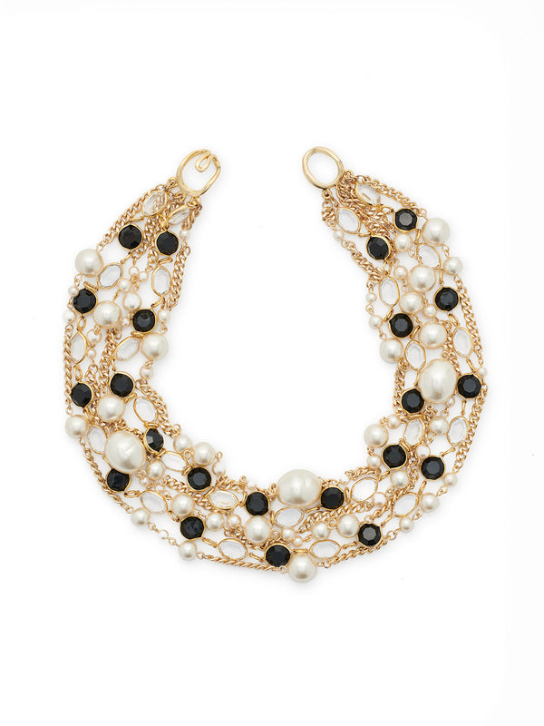 Glass and Pearl Statement Necklace – Misook