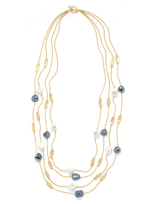 Mother of Pearl Chain Necklace