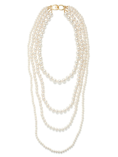 Four Row Graduated Pearl Necklace