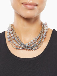 Multistrand Frosted Bead Necklace | Size Comparison | Nickle-Free Jewelry | Misook