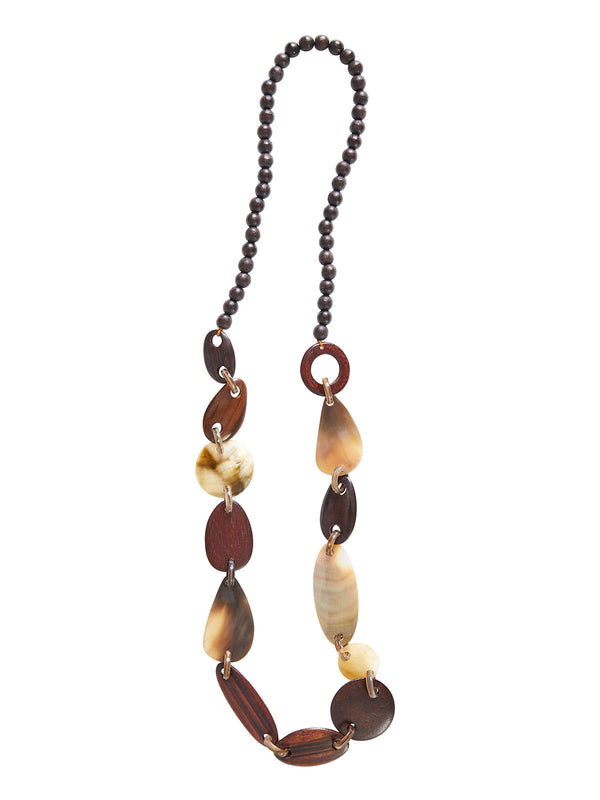 Wood Bead Long Necklace | Hypoallergenic Jewelry | Misook
