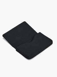 Open Business Card Case in Color Black