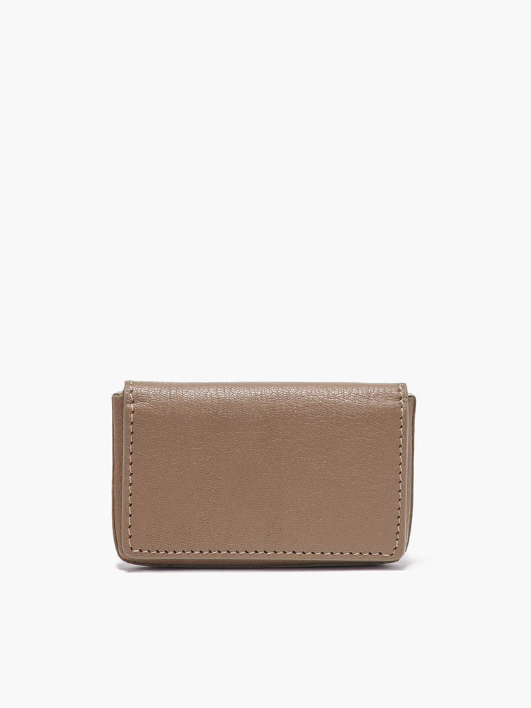 Closed Business Card Case in Color Taupe