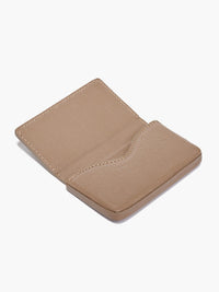 Open Business Card Case in Color Taupe