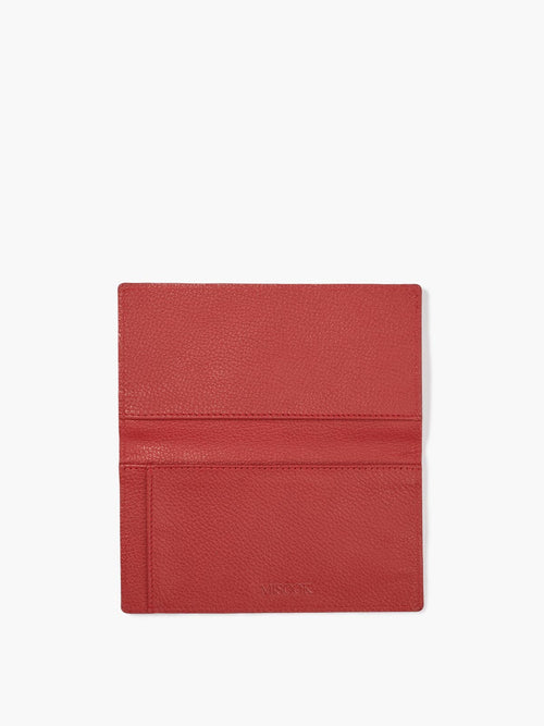 Open Checkbook Cover in Color Red