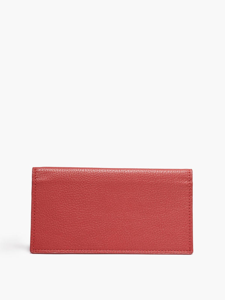 Closed Checkbook Cover in Color Red