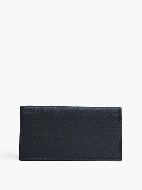 Closed Checkbook Cover in Color Navy Blue