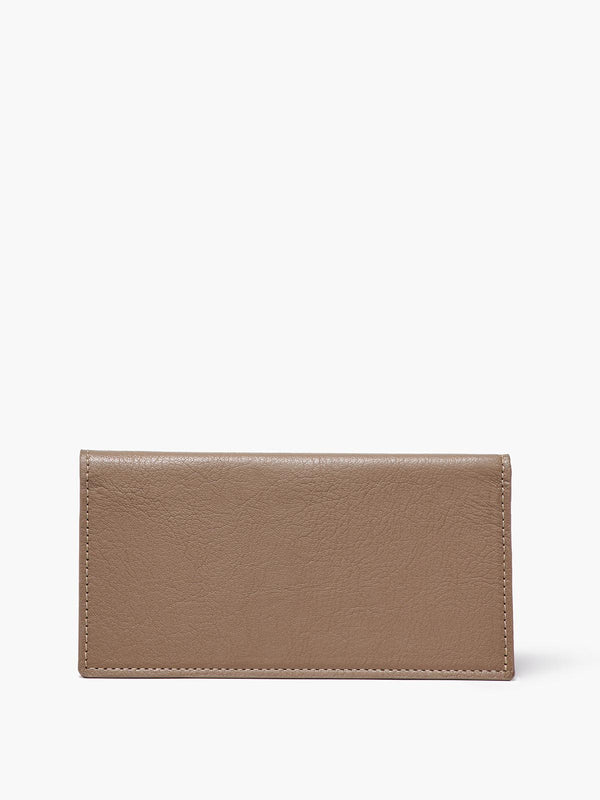 Closed Checkbook Cover in Color Taupe