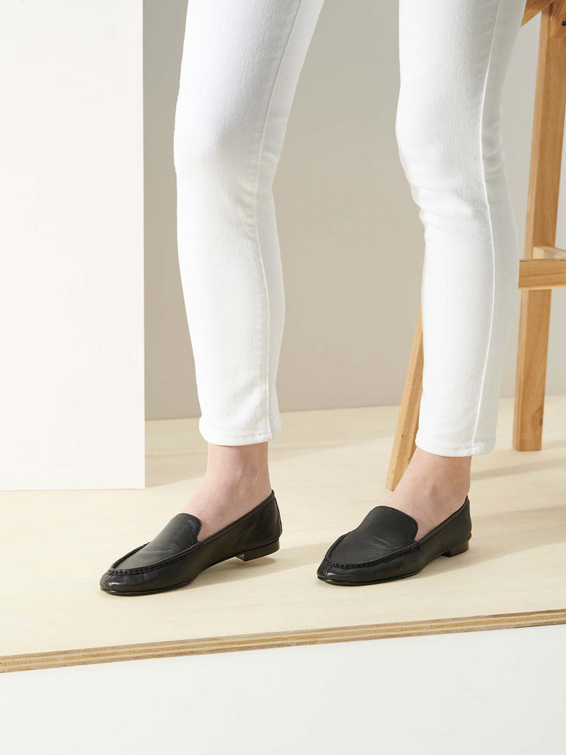 Taryn Rose Diana Black Loafers