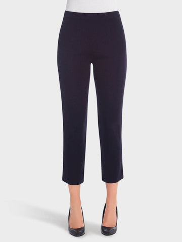 Knit Ankle Pant, Navy