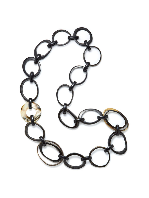 Black Horn Link Necklace